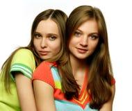 Zwei schöne Mädchen Lizenzfreie Stockbilder