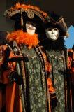 Zwei Schablonen an Venedig-Karneval 2011 Lizenzfreie Stockfotografie