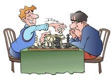 Zwei Schachspieler Stockfotos