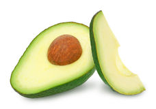 Zwei Scheiben Avocado Lizenzfreies Stockfoto