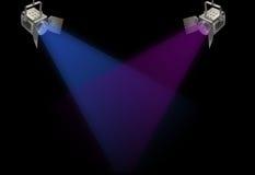 Zwei Scheinwerfer Stockbilder