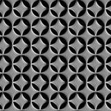 Zwei-Schicht Stahlgitter mit nahtlosem Hintergrund der runden Löcher Stockbilder
