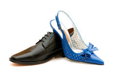 Zwei Schuhe getrennt Lizenzfreies Stockfoto