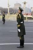 Zwei Schutz im Tiananmen-Platz von China Lizenzfreie Stockfotos