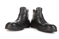 Zwei schwarze Schuhe Stockfotos