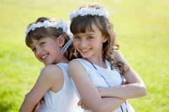 Zwei Schwestern Stockbild