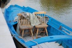 Zwei seater Reihenboot in Venedig Lizenzfreie Stockfotos