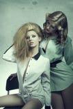 Zwei sinnliche Modemädchen Lizenzfreie Stockbilder