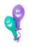 Zwei smiley baloons Stockbild
