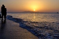 Zwei, Sonnenaufgang Stockfoto