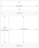 Zwei Spalte-Kaskade-Art-Blatt-Plan Stockbilder