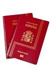 Zwei Spanien-Pässe Lizenzfreies Stockfoto