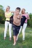 Zwei spielerischer blonder und junger Mann Lizenzfreie Stockbilder