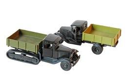 Zwei Spielzeug-Spuren Lizenzfreie Stockfotos