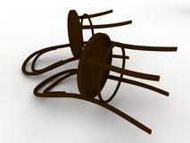 Zwei Stühle stock abbildung