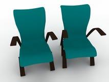 Zwei Stühle lizenzfreie abbildung
