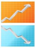 Zwei Statistikabbildungen Lizenzfreie Stockfotografie