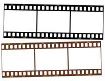Zwei Streifen 35mm Transparentfilm Stockbilder