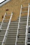 Zwei Strichleitern Stockfoto