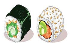 Zwei Sushi Lizenzfreies Stockbild
