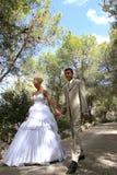 Zwei am Tag der Hochzeit.   Stockfotos