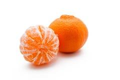 Zwei Tangerinen Lizenzfreie Stockfotos