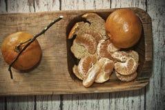 Zwei Tangerinen Lizenzfreie Stockbilder