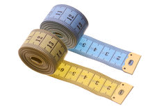Zwei Tape-measures Stockfotografie