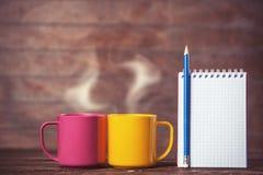 Zwei Tasse Kaffees Stockbilder
