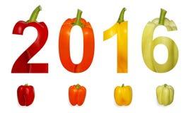 Zwei tausend sechzehn neues Jahr Lizenzfreies Stockfoto