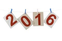 Zwei tausend sechzehn neues Jahr Lizenzfreie Stockfotos