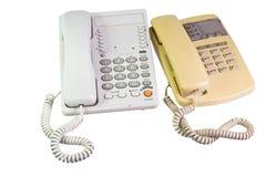 Zwei Telefone Stockbilder