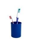 Zwei thoothbrushes Stockbild