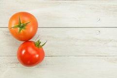 Zwei Tomaten Gemüse Stockfotografie