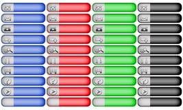 Zwei Ton-Geschäfts-Navigations-Webseiten-Tasten Lizenzfreie Stockfotos
