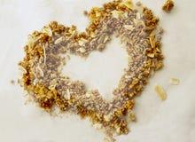 Zwei Tone Granola Heart lizenzfreies stockbild