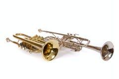 Zwei Trompeten lizenzfreies stockbild
