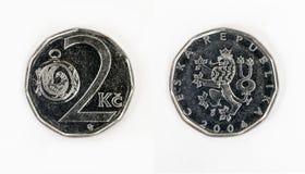 Zwei Tscheche-Krona Lizenzfreie Stockfotos