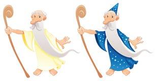 Zwei Typen Zauberer lizenzfreie abbildung