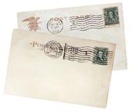 Zwei US Postcards, 1908. Lizenzfreie Stockfotos