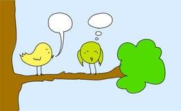 Zwei Vögel Lizenzfreie Stockfotos