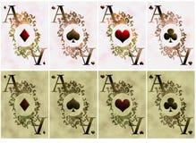 Zwei Varianten der Kartenasse Stockfotos
