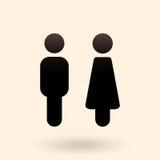 Zwei Vektor-Ikonen Männliche und weibliche Geschlechts-Zeichen stock abbildung