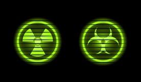Zwei vektorindustrielle Ikonen Stockbild