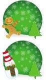 Zwei verschiedene Weihnachtskonzeptkarten Stockbild