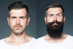 Zwei verschmolzen Bilder von einem Mann Lizenzfreies Stockfoto