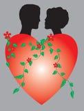 Zwei von heartson stock abbildung