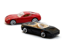 Zwei vorbildliche Sportautos Stockfoto