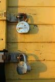 Zwei Vorhängeschlösser Lizenzfreie Stockbilder