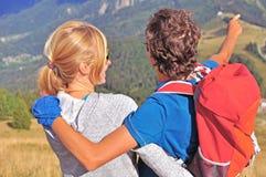 Zwei Wanderer Lizenzfreie Stockfotos